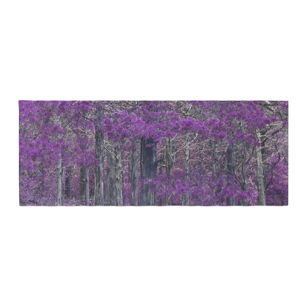 "Sylvia Coomes ""Purple Tree"" Purple Black Photography Bed Runner"