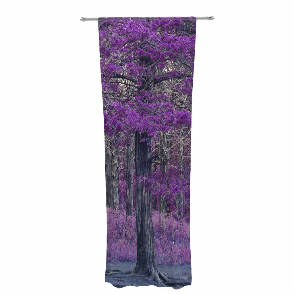 "Sylvia Coomes ""Purple Tree"" Purple Black Photography Decorative Sheer Curtain"