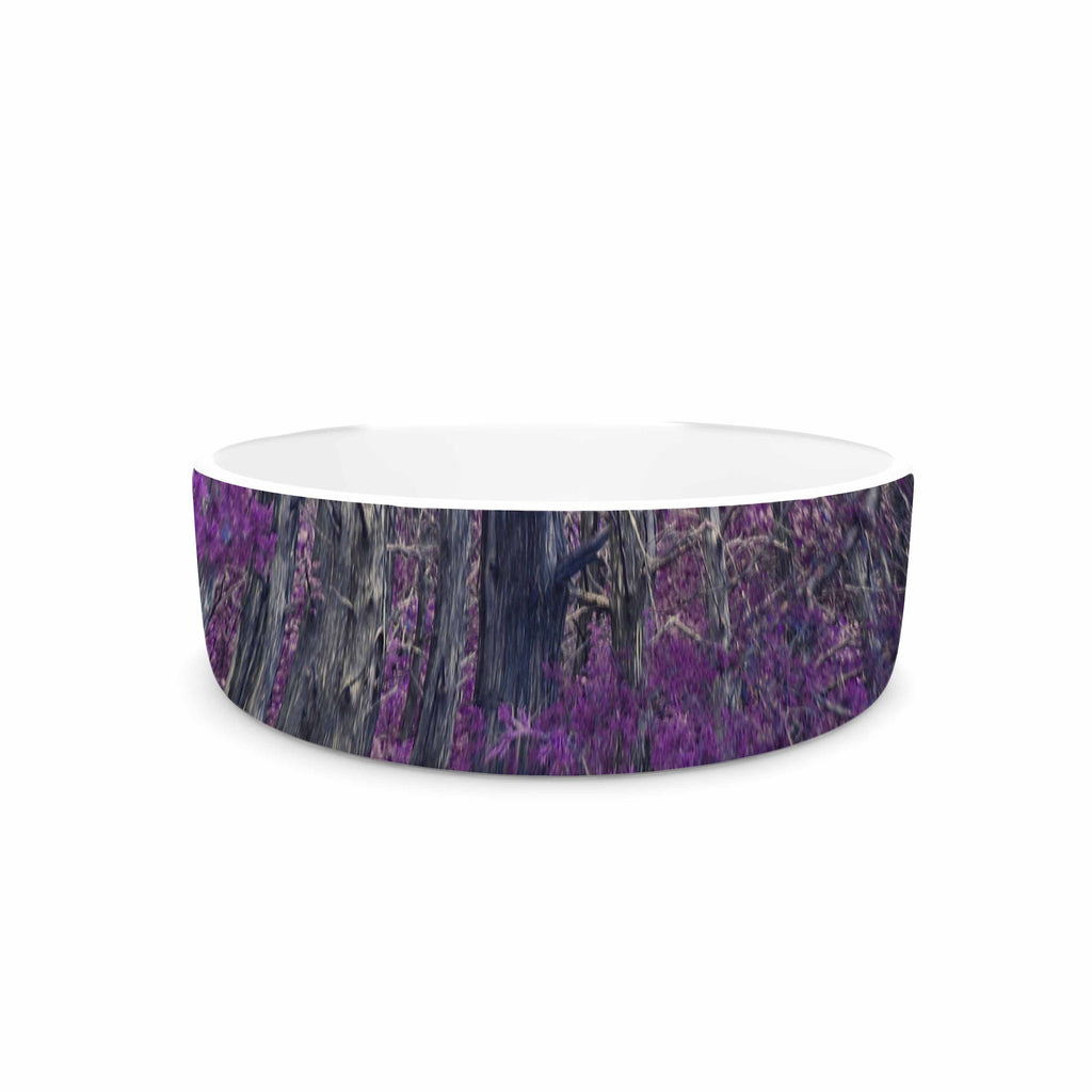 "Sylvia Coomes ""Purple Tree"" Purple Black Photography Pet Bowl"