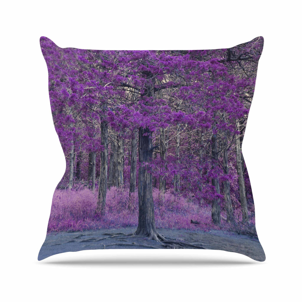 "Sylvia Coomes ""Purple Tree"" Purple Black Photography Throw Pillow"