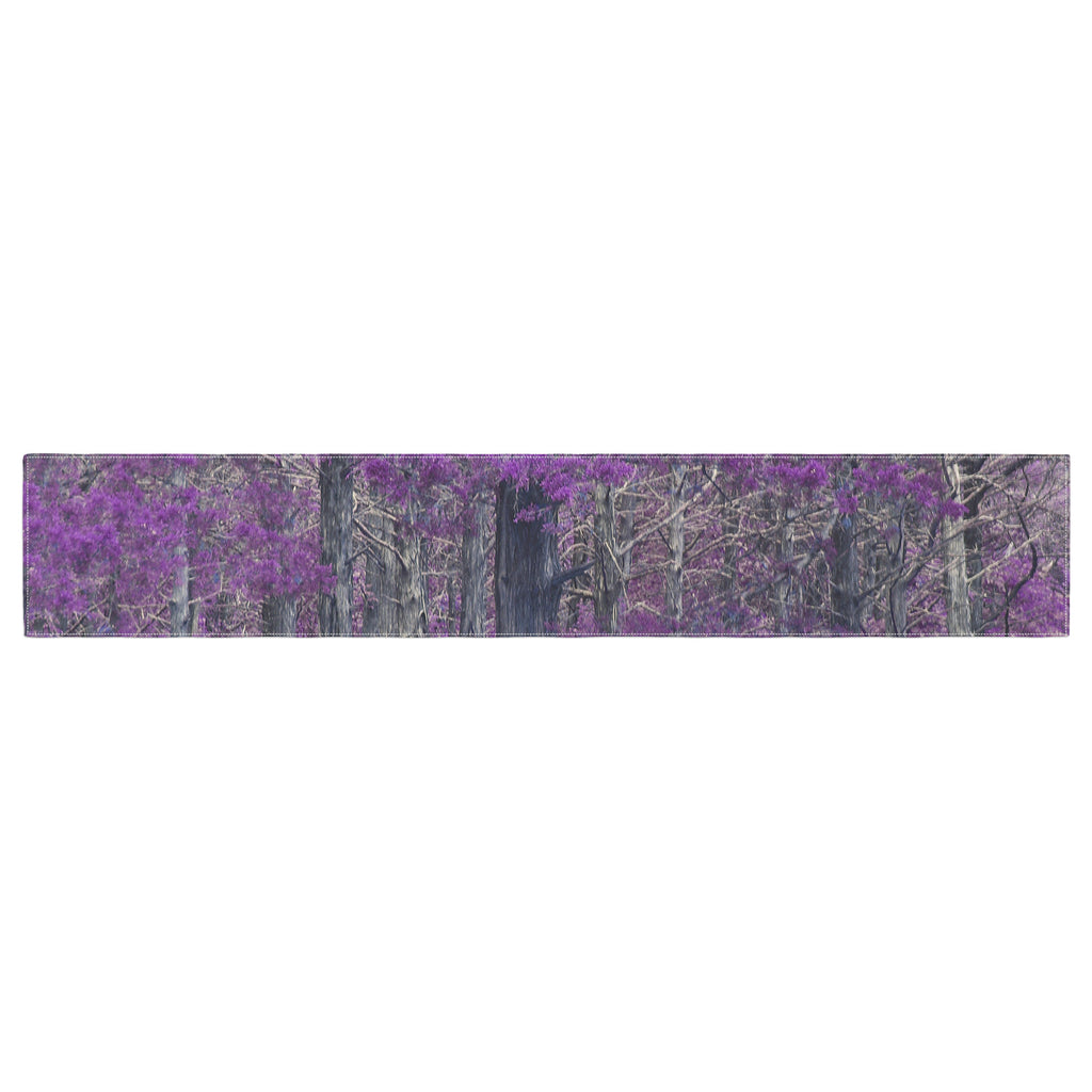 "Sylvia Coomes ""Purple Tree"" Purple Black Photography Table Runner"