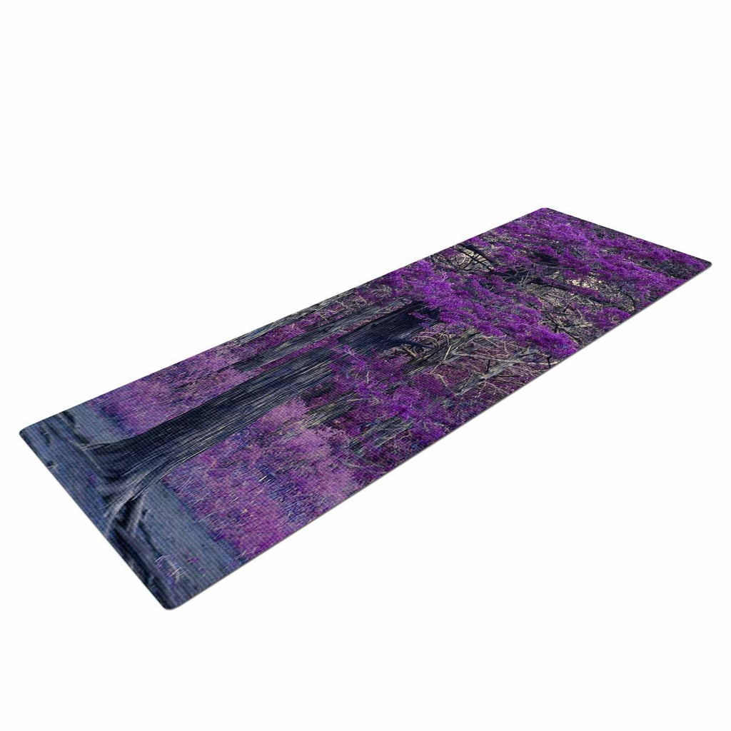 "Sylvia Coomes ""Purple Tree"" Purple Black Photography Yoga Mat"