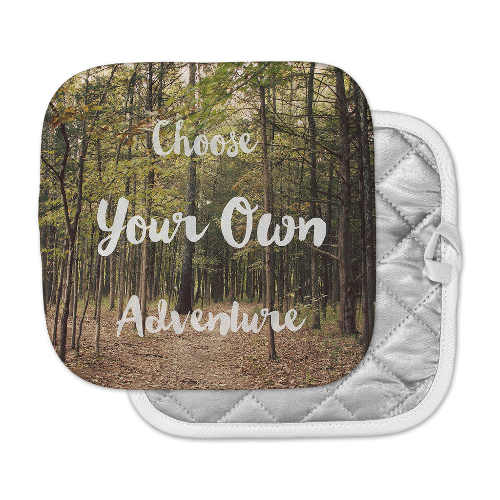 "Sylvia Coomes ""Choose Your Own Adventure"" Green Brown Photography Pot Holder"
