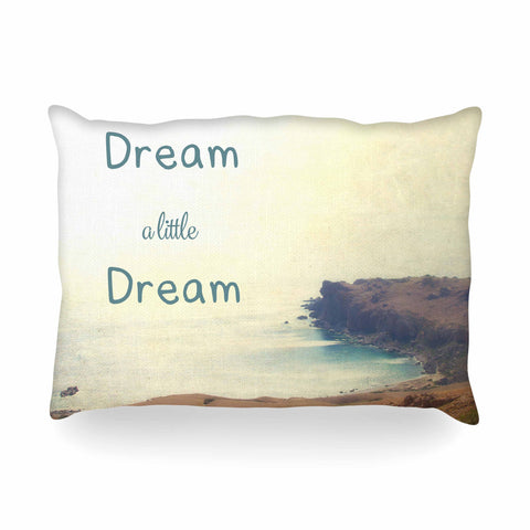 "Sylvia Coomes ""Dream A Little Dream"" Yellow Brown Photography Oblong Pillow"