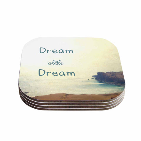 "Sylvia Coomes ""Dream A Little Dream"" Yellow Brown Photography Coasters (Set of 4)"