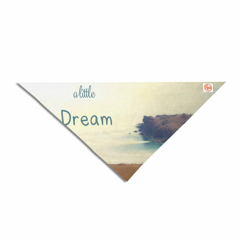 "Sylvia Coomes ""Dream A Little Dream"" Yellow Brown Photography Pet Bandana"