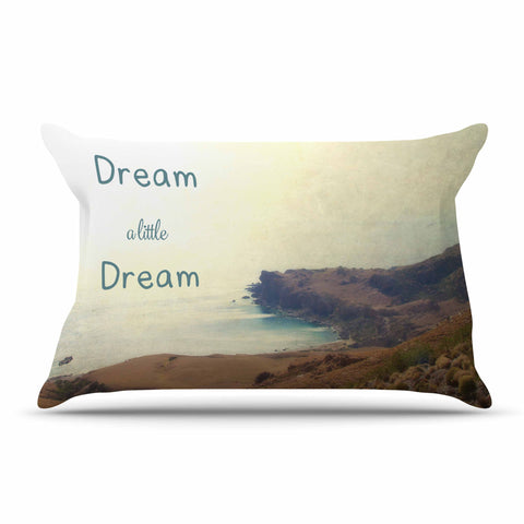 "Sylvia Coomes ""Dream A Little Dream"" Yellow Brown Photography Pillow Sham"