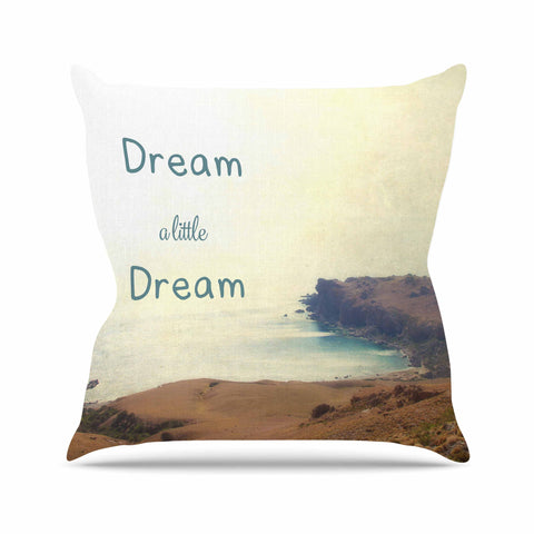 "Sylvia Coomes ""Dream A Little Dream"" Yellow Brown Photography Outdoor Throw Pillow"