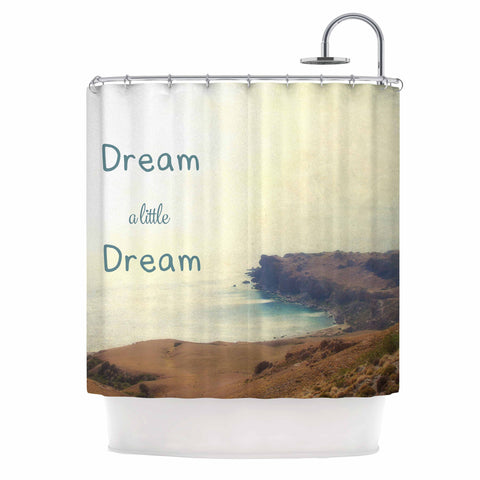 "Sylvia Coomes ""Dream A Little Dream"" Yellow Brown Photography Shower Curtain"