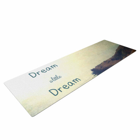 "Sylvia Coomes ""Dream A Little Dream"" Yellow Brown Photography Yoga Mat"