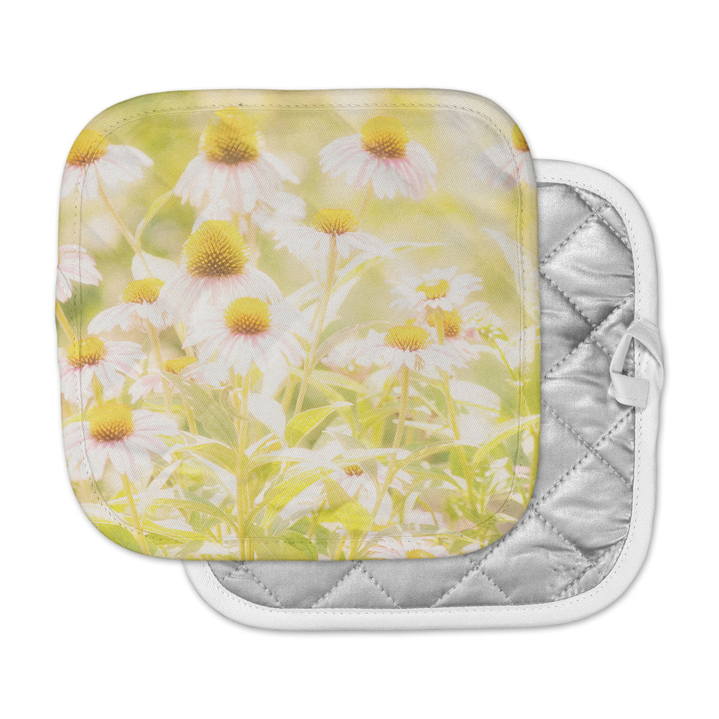 "Sylvia Coomes ""Fields Of Flowers"" Yellow Green Photography Pot Holder"
