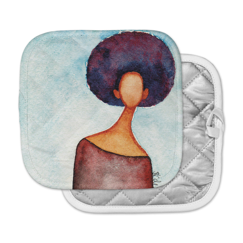 "Stacey-Ann Cole ""A Sense Of Self"" Blue Brown Pot Holder"