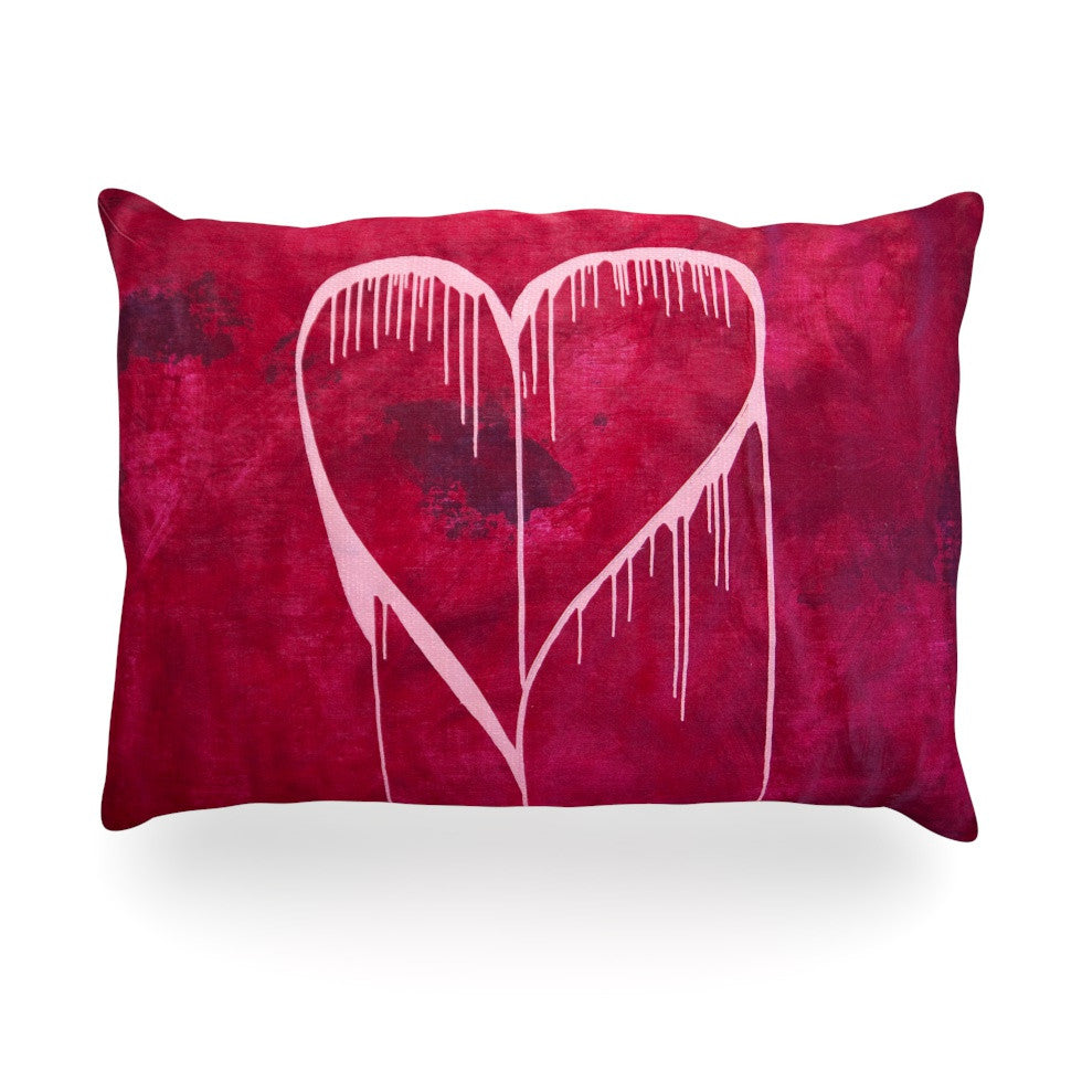 "Steve Dix ""Miss You"" Oblong Pillow - KESS InHouse"
