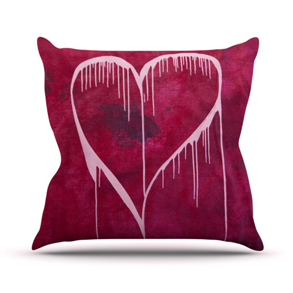 "Steve Dix ""Miss You"" Throw Pillow - KESS InHouse  - 1"
