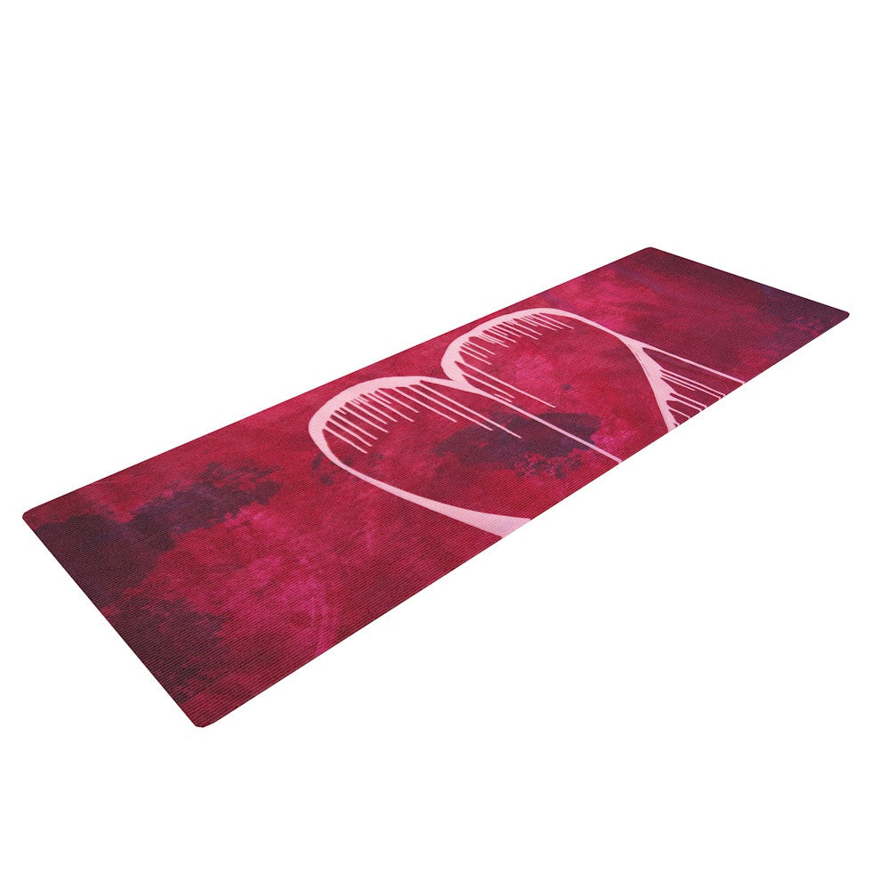 "Steve Dix ""Miss You"" Yoga Mat - KESS InHouse  - 1"