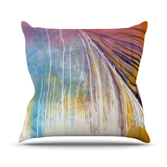 "Steve Dix ""Sway"" Outdoor Throw Pillow - KESS InHouse  - 1"