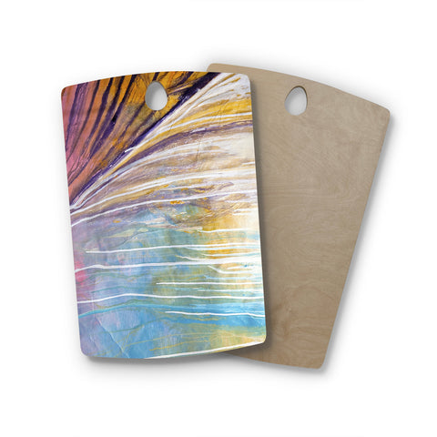 "Steve Dix ""Sway"" Rectangle Wooden Cutting Board"