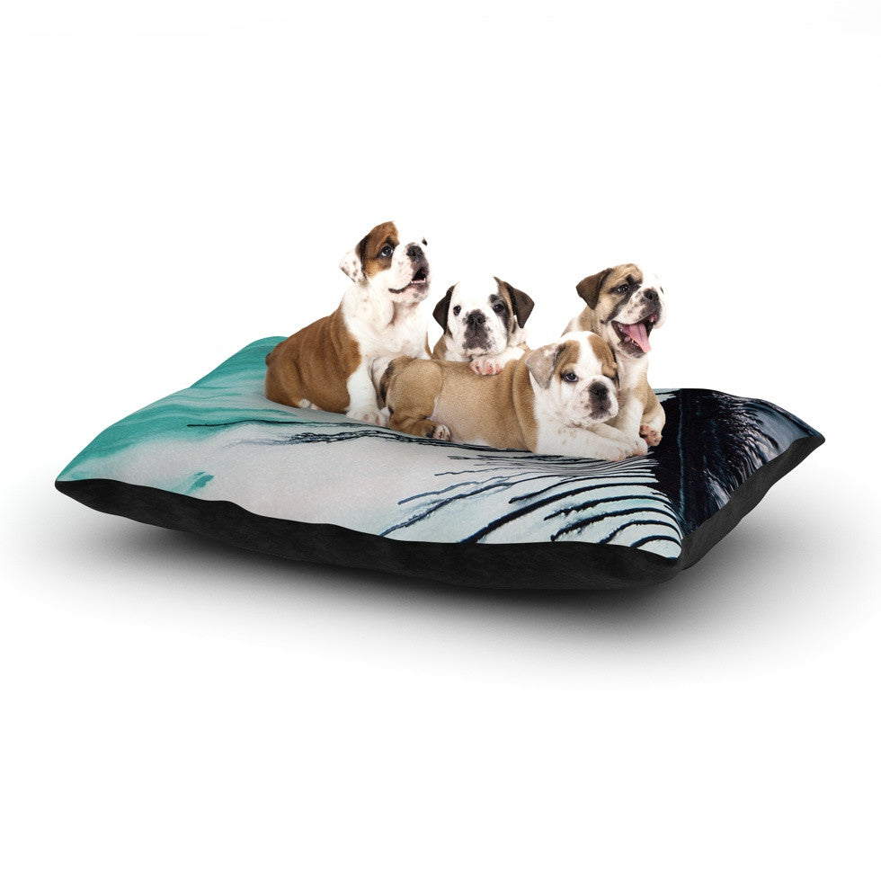 "Steve Dix ""Extractions"" Teal Black Dog Bed - KESS InHouse  - 1"