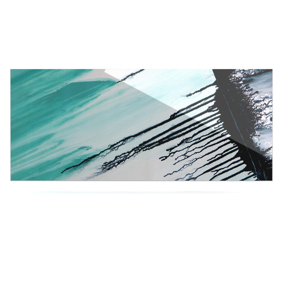 "Steve Dix ""Extractions"" Teal Black Luxe Rectangle Panel - KESS InHouse  - 1"