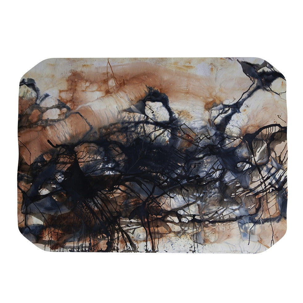 "Steve Dix ""Looking for Water"" Brown Black Place Mat - KESS InHouse"