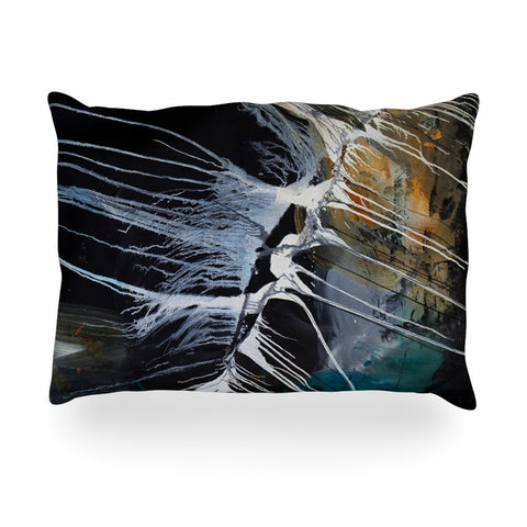 "Steve Dix ""Bones"" Black White Oblong Pillow - KESS InHouse"