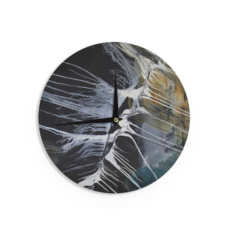"Steve Dix ""Bones"" Black White Wall Clock - KESS InHouse"