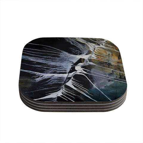 "Steve Dix ""Bones"" Black White Coasters (Set of 4)"