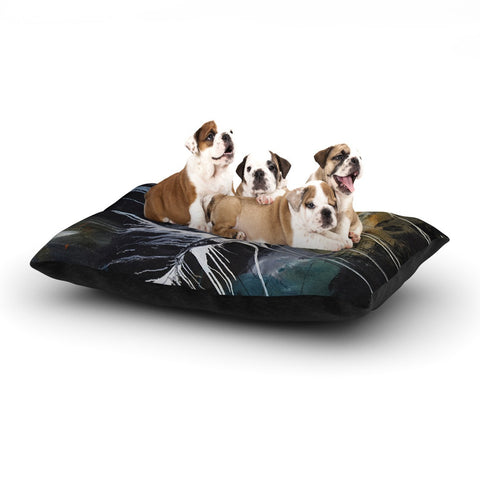 "Steve Dix ""Bones"" Black White Dog Bed - KESS InHouse  - 1"