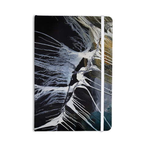"Steve Dix ""Bones"" Black White Everything Notebook - KESS InHouse  - 1"