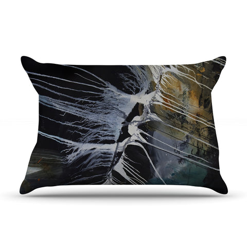 "Steve Dix ""Bones"" Black White Pillow Sham - KESS InHouse"