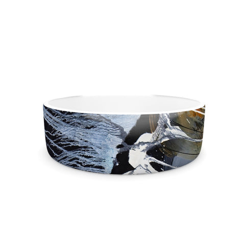 "Steve Dix ""Bones"" Black White Pet Bowl - KESS InHouse"