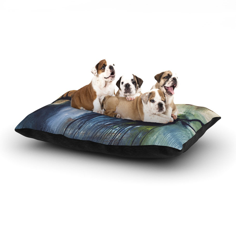 "Steve Dix ""Gravity Falling"" Blue Paint Dog Bed - KESS InHouse  - 1"