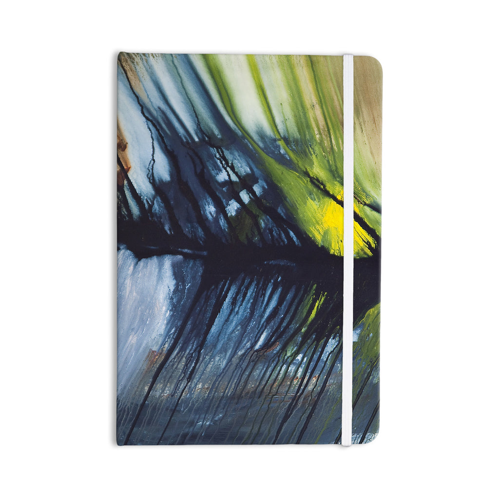 "Steve Dix ""Gravity Falling"" Blue Paint Everything Notebook - KESS InHouse  - 1"