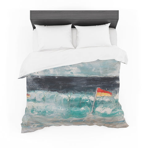 "Steven Dix ""Great Pacific Pty Ltd"" Blue White Mixed Media Featherweight Duvet Cover"