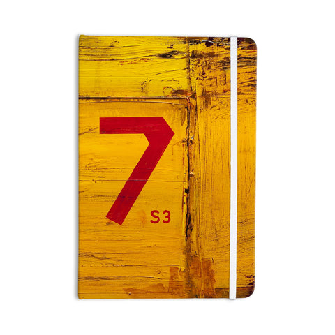 "Steve Dix ""7S3"" Yellow Painting Everything Notebook - KESS InHouse  - 1"