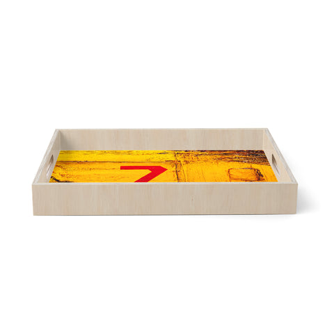 "steven dix ""7S3"" Yellow Painting Birchwood Tray"