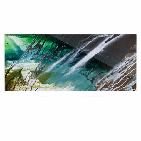 "Steve Dix ""Ocean Majestic"" Teal Green Luxe Rectangle Panel - KESS InHouse  - 1"