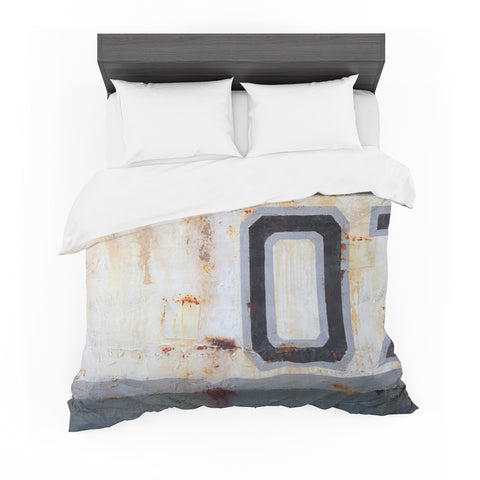 "Steven Dix ""Decommissioned"" Gray White Painting Featherweight Duvet Cover"
