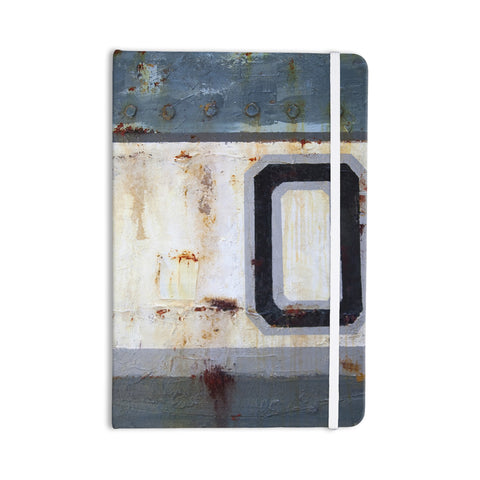 "Steve Dix ""Decommissioned"" Blue White Everything Notebook - KESS InHouse  - 1"