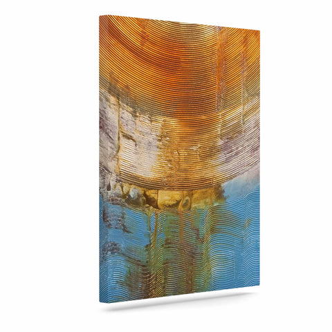 "Steve Dix ""Source of Energy"" Orange Blue Canvas Art - KESS InHouse  - 1"