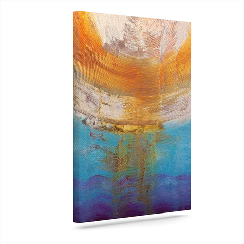 "Steve Dix ""Source of Energy"" Orange Blue Canvas Art - Outlet Item"