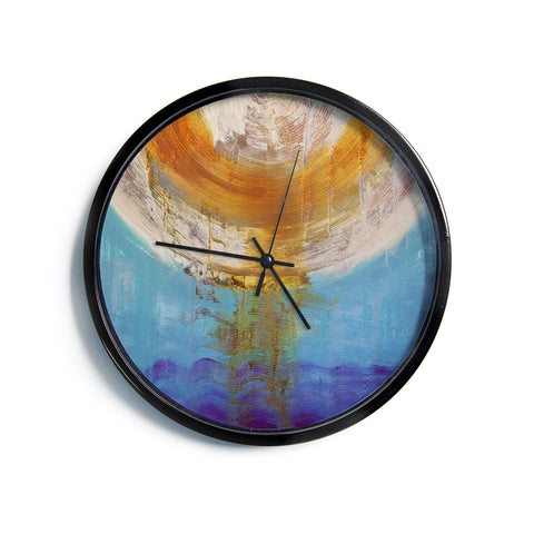 "Steve Dix ""Source of Energy"" Orange Blue Modern Wall Clock"
