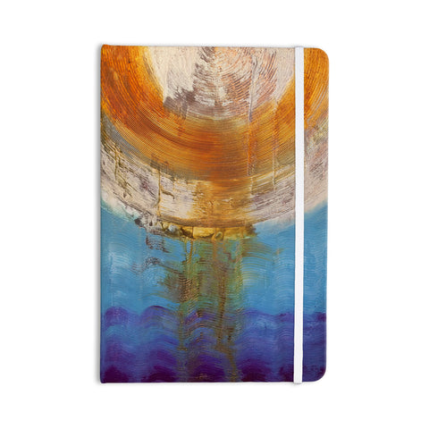 "Steve Dix ""Source of Energy"" Orange Blue Everything Notebook - KESS InHouse  - 1"