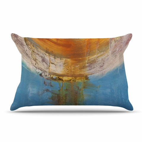 "Steve Dix ""Source of Energy"" Orange Blue Pillow Sham - KESS InHouse"