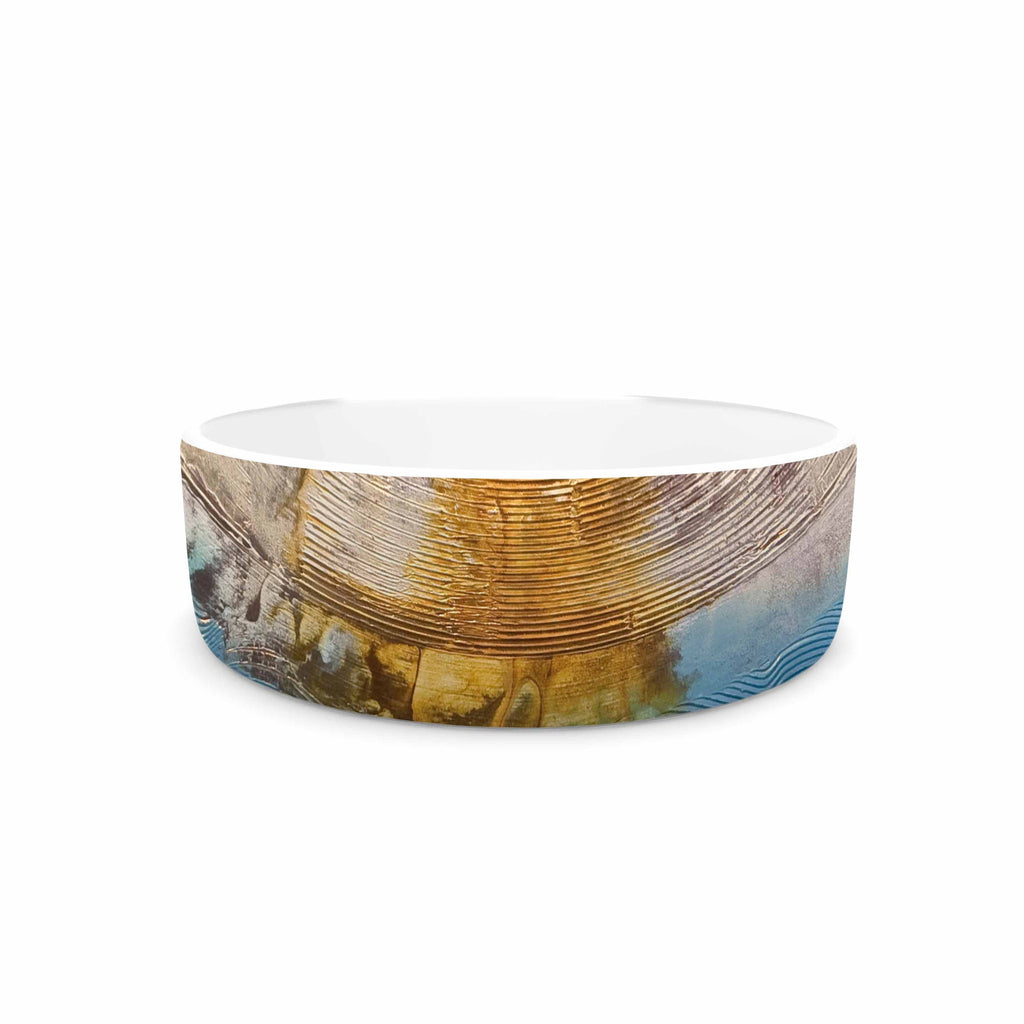 "Steve Dix ""Source of Energy"" Orange Blue Pet Bowl - KESS InHouse"