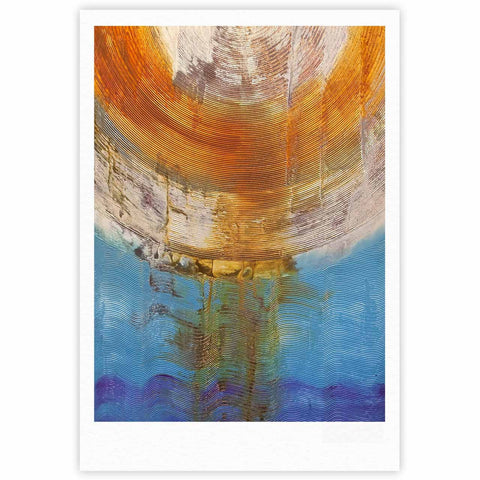 "Steve Dix ""Source of Energy"" Orange Blue Fine Art Gallery Print - KESS InHouse"