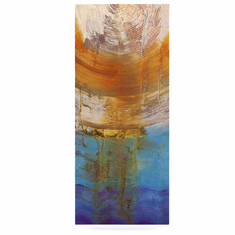 "Steve Dix ""Source of Energy"" Orange Blue Luxe Rectangle Panel - KESS InHouse  - 1"
