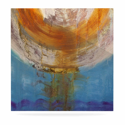 "Steve Dix ""Source of Energy"" Orange Blue Luxe Square Panel - KESS InHouse  - 1"