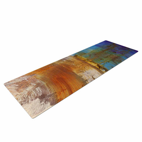 "Steve Dix ""Source of Energy"" Orange Blue Yoga Mat - KESS InHouse  - 1"