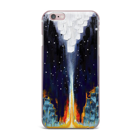 "Steven Dix ""Retro"" White Blue Painting iPhone Case"
